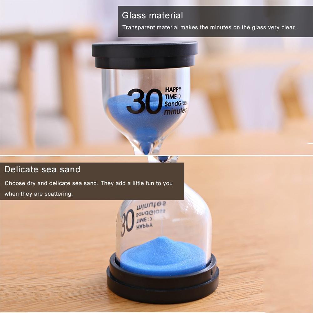 1 Minute Basisago Horloges de Sable Minuterie 2 Minutes 6PCS Sabliers Minuterie Horloge de Sable 30 Sec Exercice 10 Minutes D/ésign/é pour Jeux,Cuisine 5 Minutes 3 mins