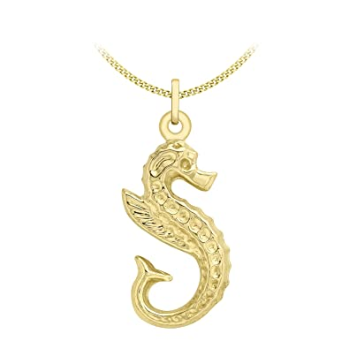 Carissima gold 9ct yellow gold seahorse pendant on curb chain carissima gold 9ct yellow gold seahorse pendant on curb chain necklace of 46cm18quot aloadofball Gallery