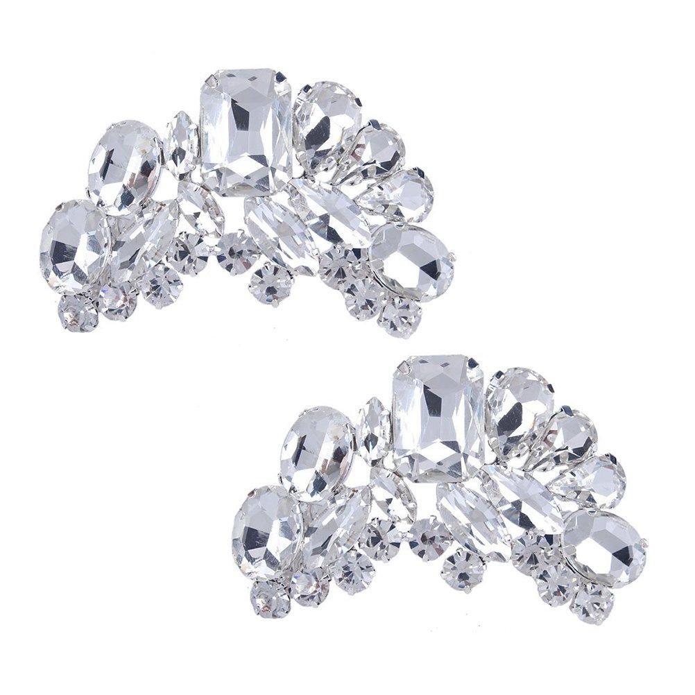 Tinksky Cristal Fleur Accessoires Bijoux de chaussures - 1 Paire K121940N892X5476