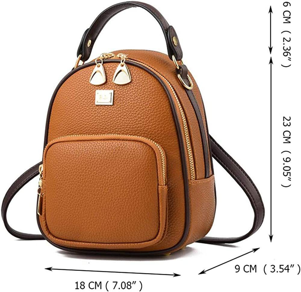 Leather Small Women Backpacks Zipper Shoulder Bag Female Phone Bags Lady Portable Backpack,Red,Russian Federation