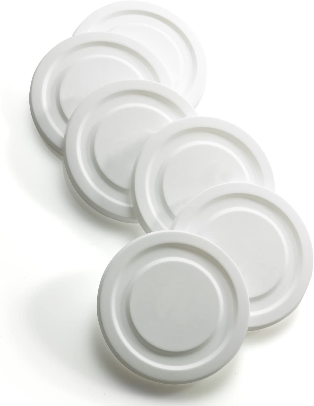 ARC International Luminarc White Working Glass Lids for Double Old Fashioned Cooler Glass, Set of 6