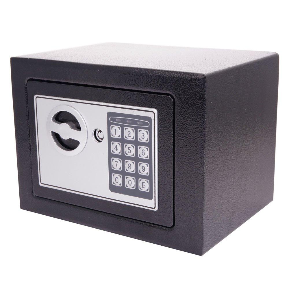 Mefeir電子デジタルセキュリティセーフボックスキーパッドロック、ホームオフィスホテルジュエリーガン現金使用ストレージ 0.2CF ブラック YW11108KDJ B01NABHCJ6  Included Battery 0.2CF