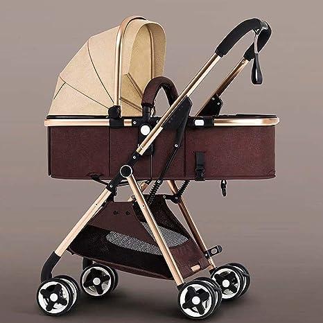 Opinión sobre OESFL Cochecito de bebé Cochecito de viajes for el infante recién nacido del niño Ligera-cochecito de bebé plegable de dos vías Niños viaje Cochecito niño recién nacido Silla de paseo Buggy Caqui