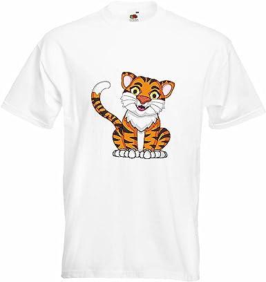 T-Shirt Camiseta Remera Feliz Gato Grande del Tigre Rey del ...