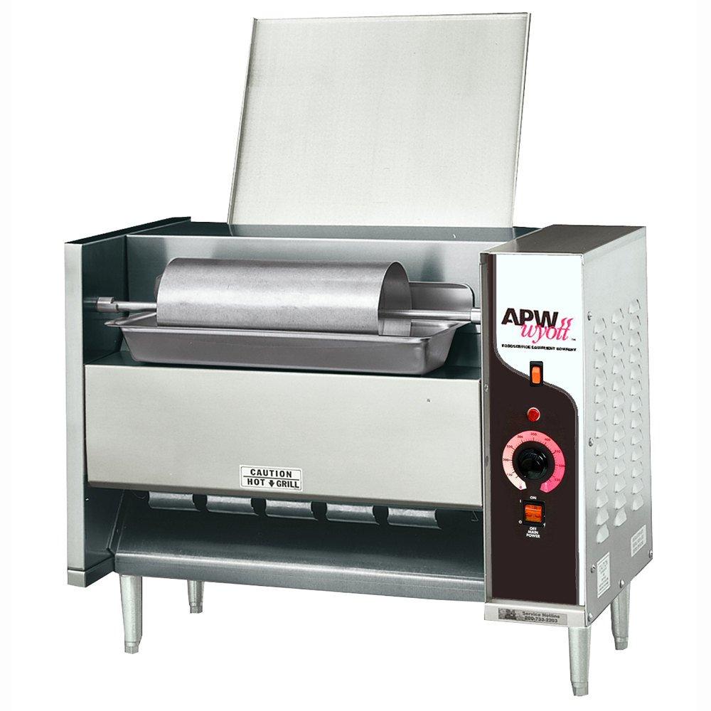 APW Wyott M-95-2 865 Bun Halves (Per Hour) Capacity Electric Countertop Bun Grill Conveyor Toaster