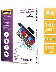 Fellowes 53061 - Pack de 100 fundas para plastificar, brillo, formato A4, 80 micras