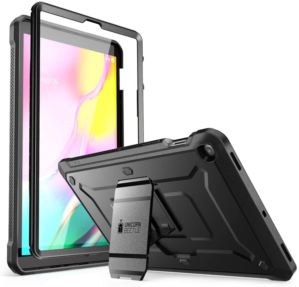 "SUPCASE Unicorn Beetle Pro Series Case for Galaxy Tab S5e Case, Full-Body Rugged Protective Case with Built-in Screen Protector for Samsung Galaxy Tab S5e 10.5"" 2019 Model (SM-T720/T725) (Black)"