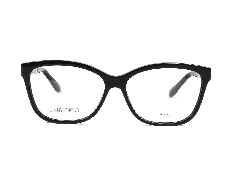 d3175a5ef9 Amazon.com  JIMMY CHOO Eyeglasses 105 0Fa3 Black 55MM  Shoes