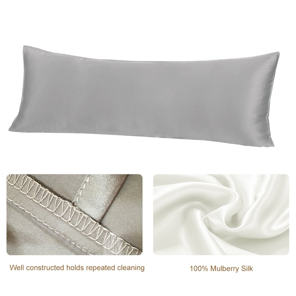 THXSILK 19 Momme Mulberry Silk Body Pillow Cover