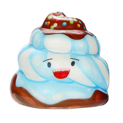 QAES Lovely Squishies, Kawaii Cream Cake Poop Squishy, Creamy Aroma Slow Rising Squeeze Toys for Boys and Girls Gifts Soft Toy (Color : B): Home & Kitchen