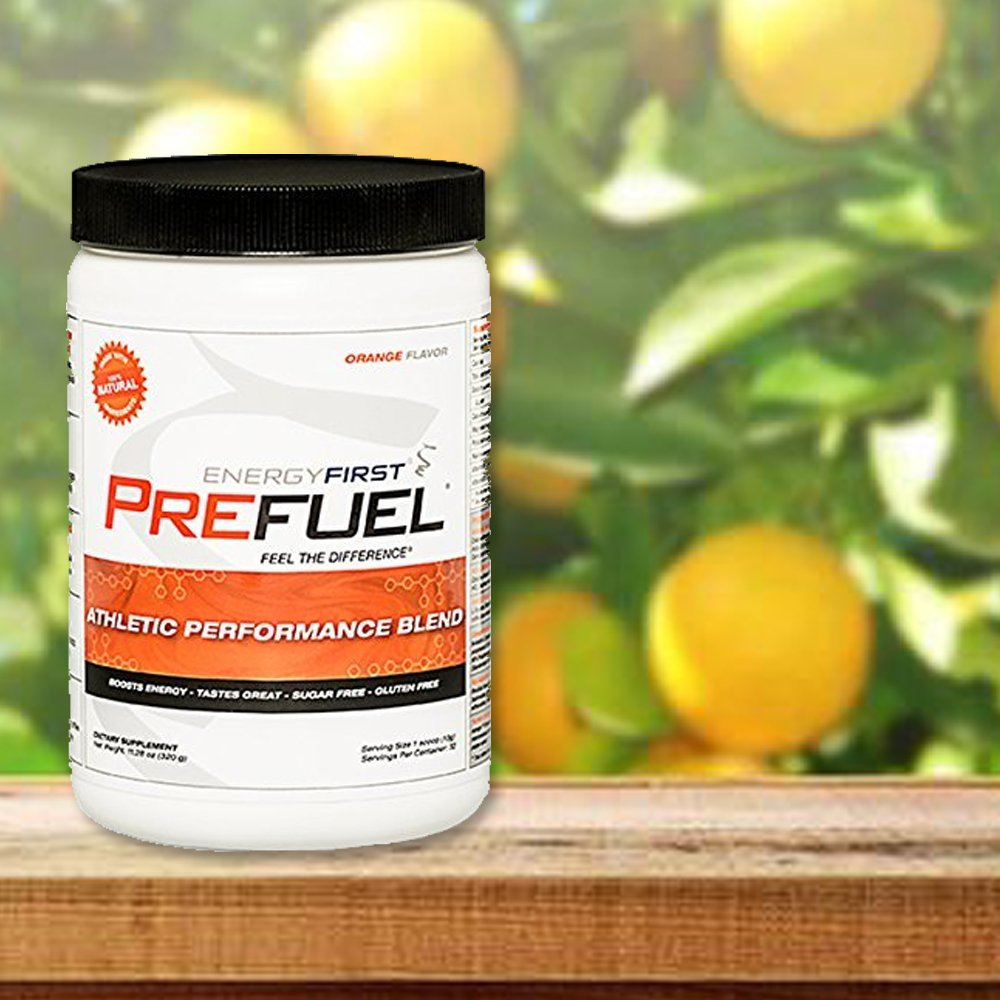 Prefuel Pre-Workout Energizer Natural and Gluten Free Before Workout Energy Supplement Powder| Non-GMO | Vegan | Sugar- Free | Antioxidant| 11.28 oz by- EnergyFirst