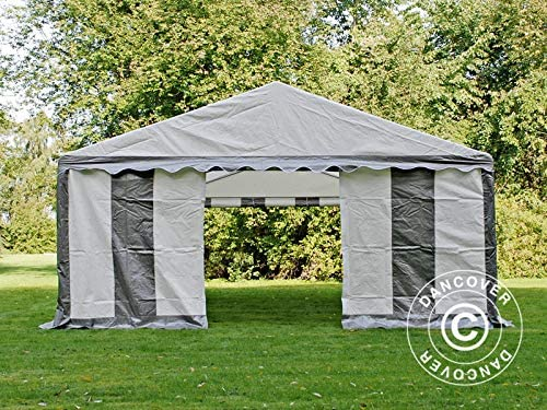 Dancover Carpa para Fiestas Carpa Eventos Plus 4x8m PE, Gris ...