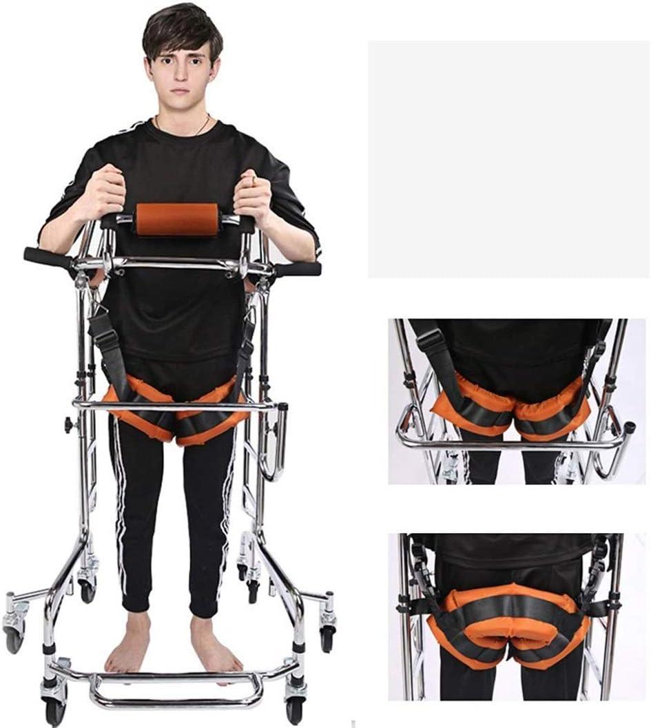 MLKARDUT Andador de 8 Ruedas for Personas Mayores, Andador bariátrico Plegable, Andador con Anillas, manijas Ajustables en Altura, Ayuda for Caminar con discapacidad (Color : Men)