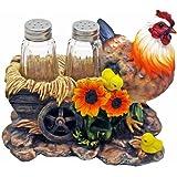 Hen with Chicks Salt and Pepper Shaker Holder Figurine