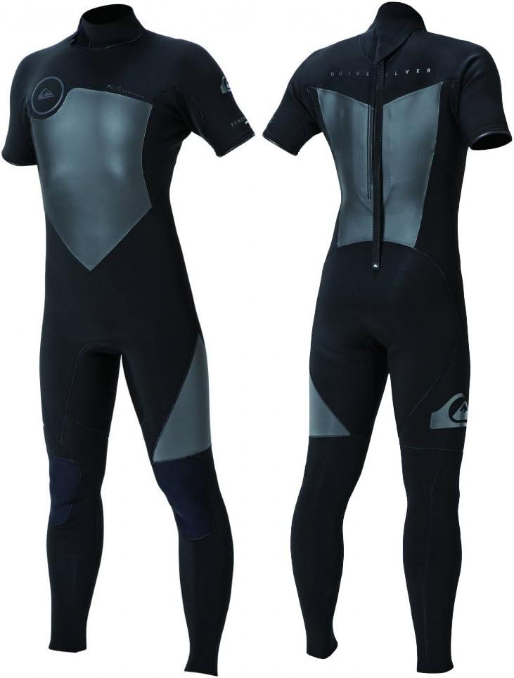 2018 QUIK銀 (クイックシルバー) シーガル QWT181907 BLK SYNCRO BZ SEAGULL BACK ZIP ジャパンフィット 半袖 半そで ウエットスーツ ウェットスーツ メンズ  MTサイズ