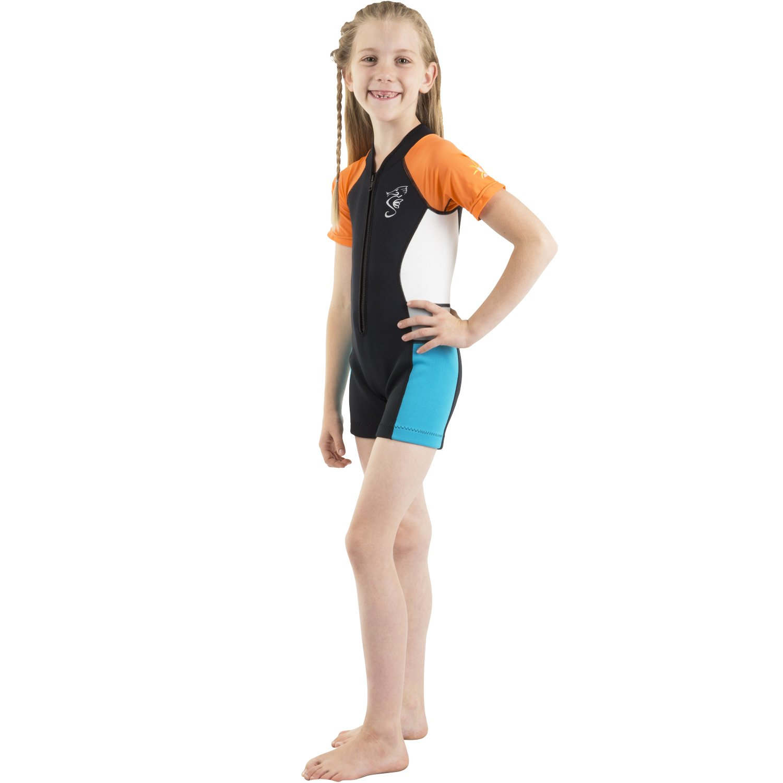Seavenger Kids 2 mm UV保護用カラフルな熱Swim Suits Shorty B01EKHKOD6 オレンジ 6/6X 6/6X オレンジ