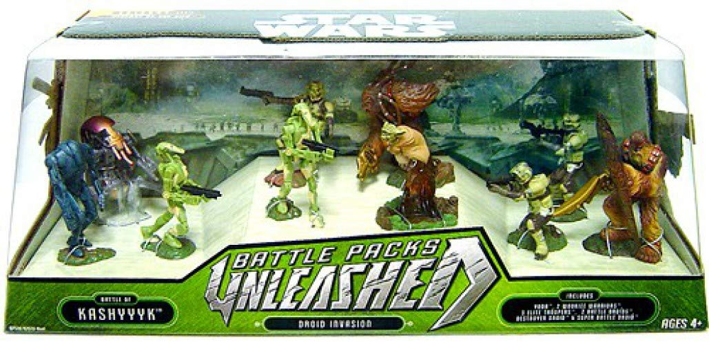 Star Wars Battle Packs Unleashed  Battle of Kashyyyk Droid Invasion by Hasbro