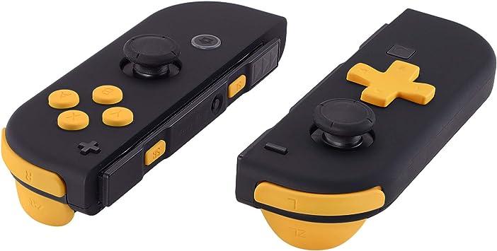 D-pad ABXY Botón SR SL L R ZR ZL Disparador Dirección y Resorte Tacto Suave Botones de Reemplazo para Nintendo Switch JoyCon(D-pad SOLO compatible con eXtremeRate carcasa joycon-versión D-pad)Amarillo: Amazon.es: Electrónica