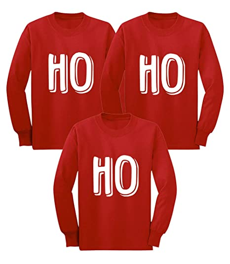 8a4d3893 Ho Ho Ho Matching Xmas Set for Siblings 3 Christmas Long Sleeve Toddler Shirts  3 Units