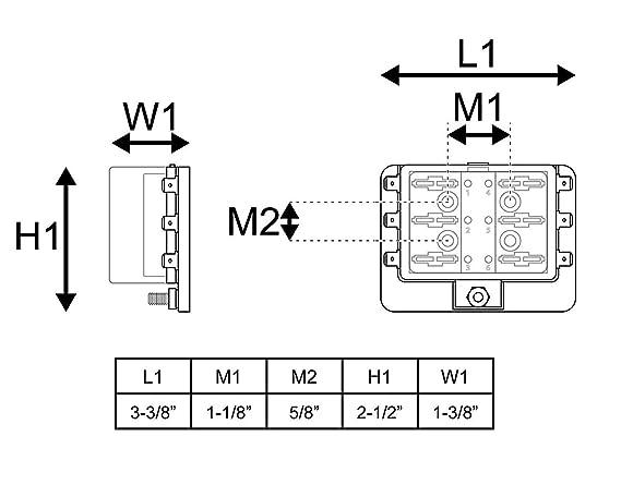 Automotive Blade Fuse Box Holder, linkstyle 6 way fusible bloque circuito caja impermeable con iluminación LED con tapa para coche barco marino: Amazon.es: ...