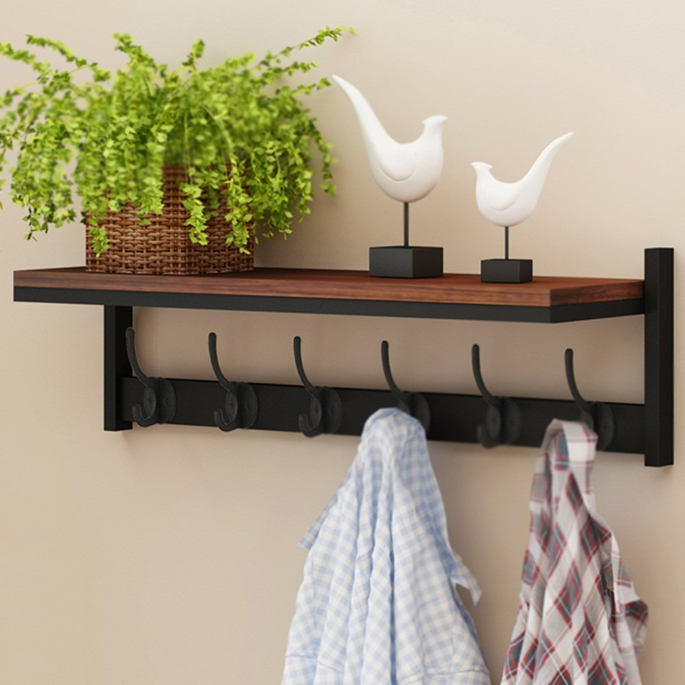 4 DQMSB Hanger Wall Hanging On The Wall Versatile Simple and Modern Entrance Wall Shelf Entrance Shelf Exquisite and Elegant Strong and Durable Environmentally Friendly and Tasteless Coat Racks