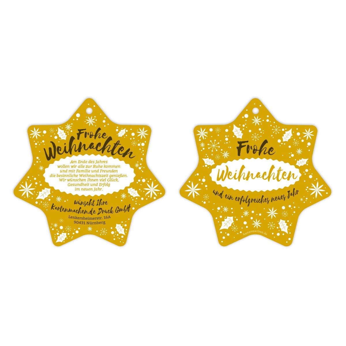 40 x Lasergeschnittene Firmen Weihnachtskarten Grußkarten individuell Weihnachten - Weihnachtsstern Schlicht in Gelb B07KYM7TRL | Verpackungsvielfalt  | Kompletter Spezifikationsbereich  | Angenehmes Aussehen