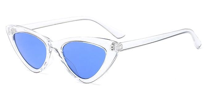 Amazon.com: COOCOL Gafas de sol negras de gato para mujer ...