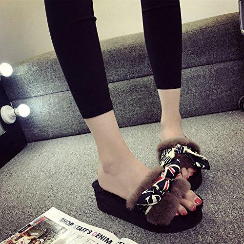 LaxBa Donna Uomo Indoor pattino antiscivolo pantofole Khaki 39