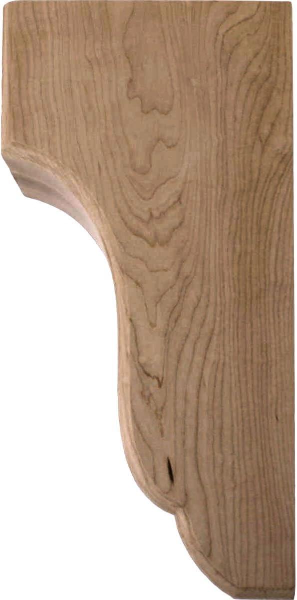 Ekena Millwork COR04X05X10CPRW-CASE-4 4 3//4 inch W x 5 1//2 inch D x 10 inch H Capistrano Mission Corbel 4-Pack Rubberwood ,