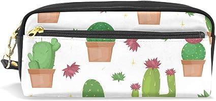 Estuche con cremallera grande para maquillaje, cactus, estuche para lápices, estuche para niños y niñas, suministros escolares: Amazon.es: Oficina y papelería