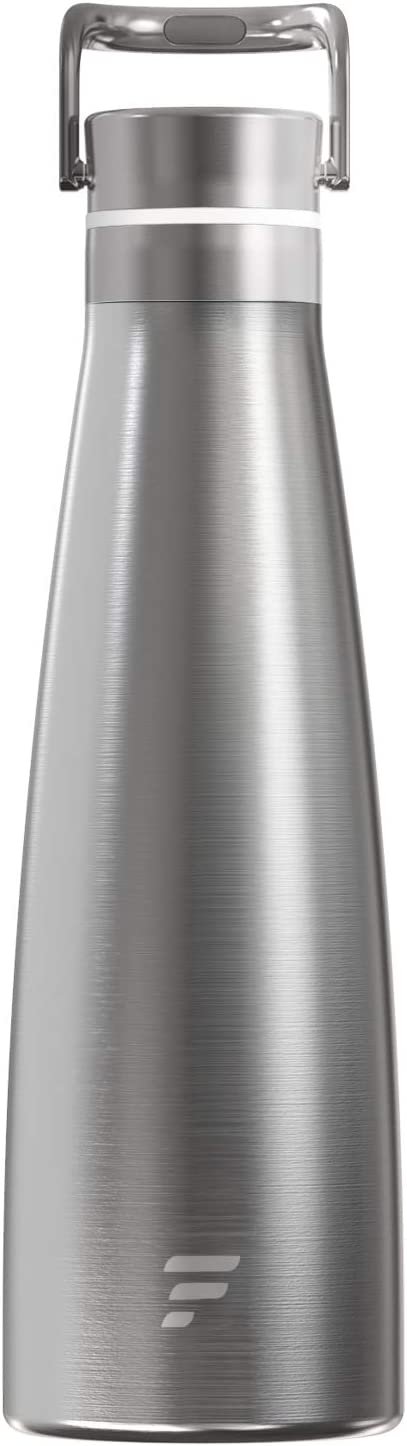 Letsfit Vacuum Insulated Water Bottle, Cola Shape Thermos with Handle, Double Walled Stainless Steel Water Flask for 24 Hours Cold, 12 Hours Hot, Leak-Proof BPA Free Sports Flask, 16oz