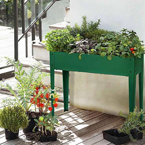 Raised garden bed for vegetables or herbs