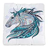Tufted Chair Cushion Maverick Patterned Horse