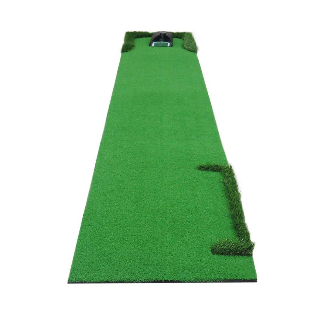 バックボール搭載エリア付きゴルフマット、ミニプラクティスマット、初心者用パター、屋内外 B07GWQ1CC7