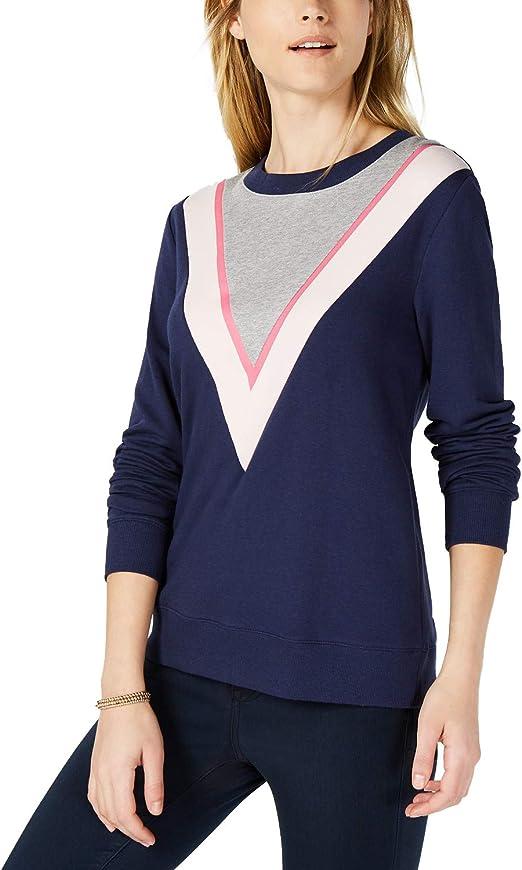 Maison Jules Womens Illusion Knit Sweater