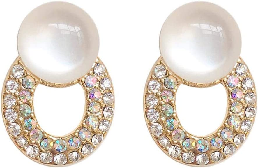 SGDBBR Bisutería Mujer Pendientes Pendientes Pendientes de Anillo de Diamantes Micro incrustados en francés Pendientes de Piedras Preciosas Femeninas