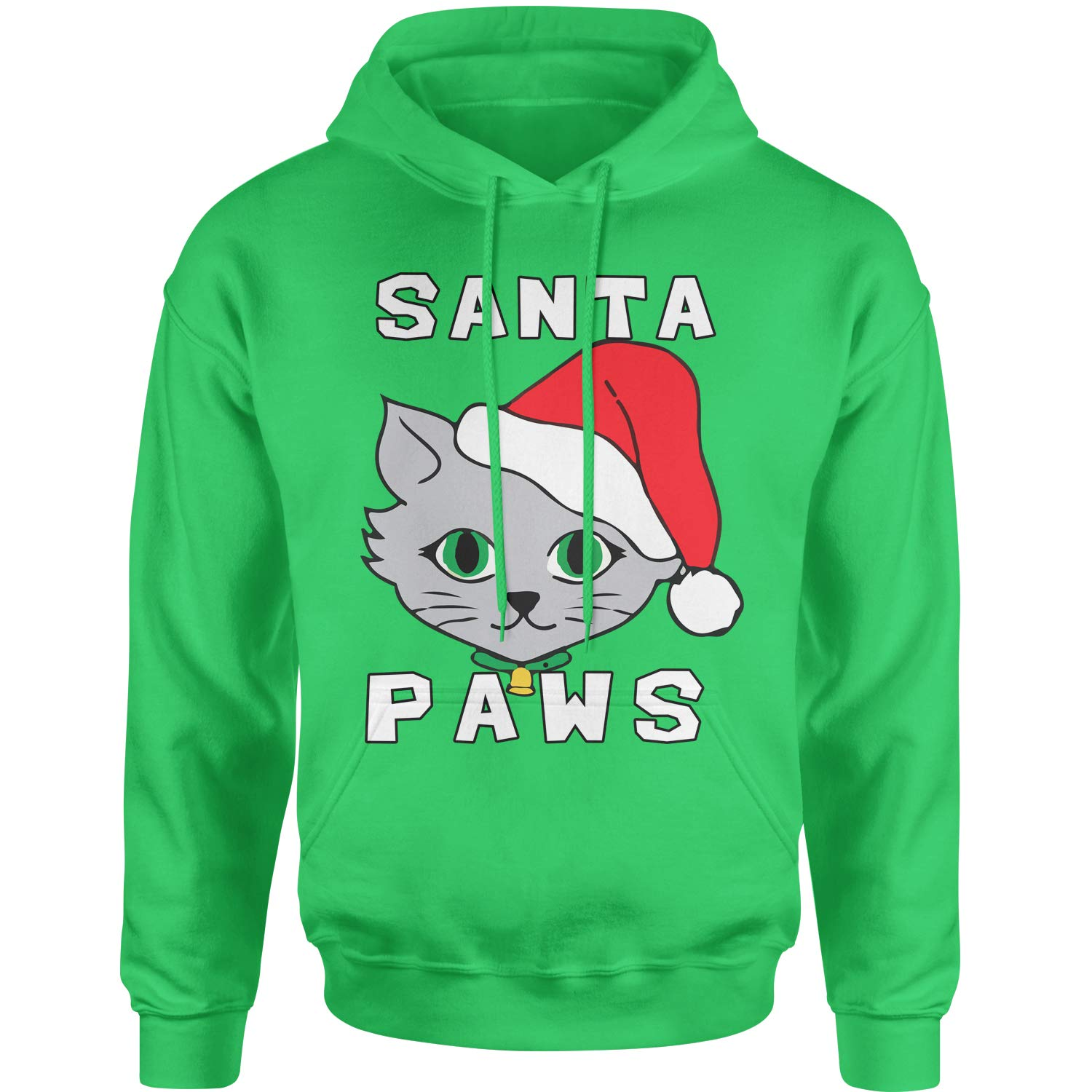 Motivated Culture Santa Paws Cat Kitten Ugly Christmas Adult Unisex Hoodie