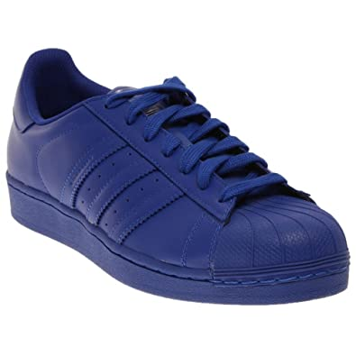 online store c612b 687df Adidas X Pharrell Williams Superstar Supercolor Pack S41814 Bold Blue Men s  Shoes (size ...