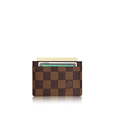 sale retailer 5adf8 693ca Louis Vuitton Damier Ebene Canvas Card Holder N61722: Amazon.ca ...