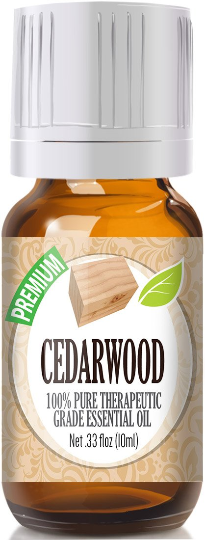 Healing Solutions Cedarwood Essential Oil - 100% Pure Therapeutic Grade Cedarwood Oil - 10ml/0.33 Fl Oz