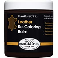 Furniture Clinic Leather Recoloring Balm - Leather Color Restorer for Furniture, Repair Leather Color on Faded & Scratched Leather Couches - 16 Colors of Leather Repair Cream (Dark Brown)