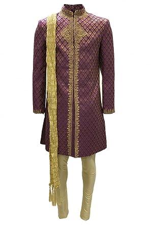 MTS4010 traje Sherwani rosa y dorado para hombre MTS4010 traje ...