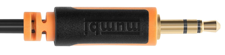 mumbi Audio Klinken Verl/ängerungskabel 3.5mm Klinke auf 3.5mm Klinkenkupplung mit vergoldeten Steckern 25cm