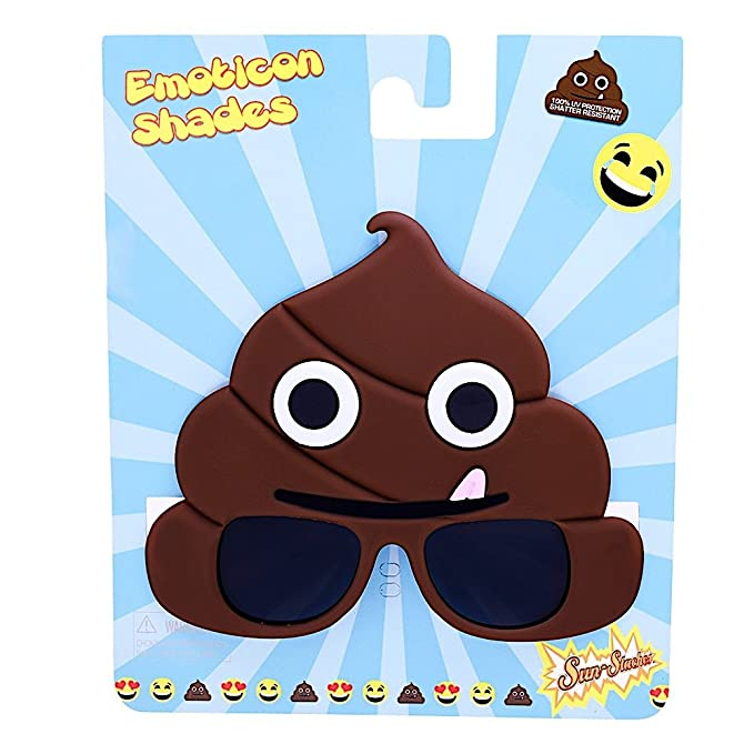 3f4ecc4502e1 Amazon.com  Sunstaches Emoticon Poo Sunglasses