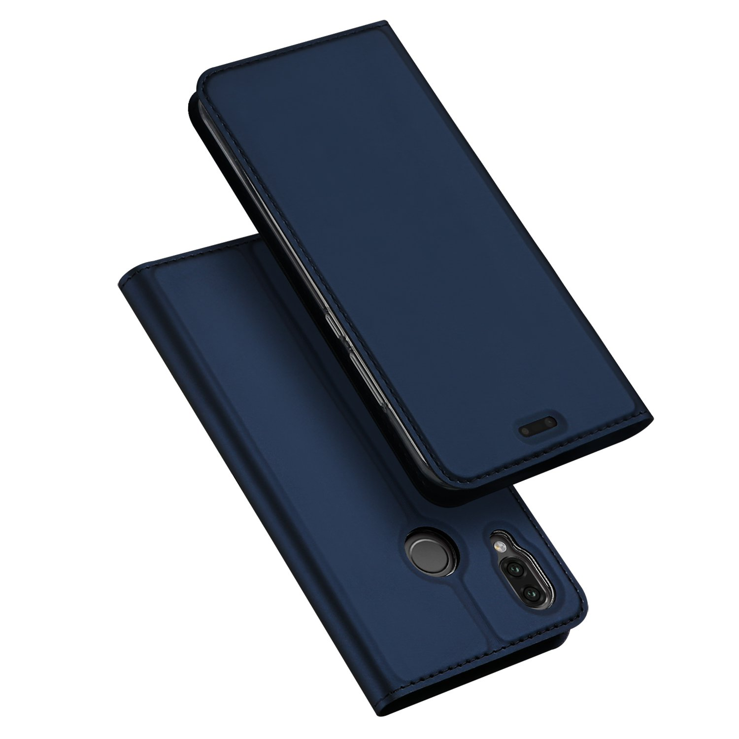 Huawei P20 Lite Cover, DUX DUCIS [Stand Mount] [1 Card Slot] [Magnetic Closure] [Blue] [Bumper TPU] Ultra Slim Full Body Protective Flip Case Case for Huawei P20 Lite (Pro Series Skin)