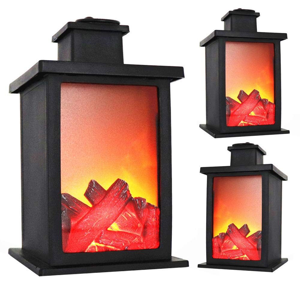 Flame Effect Light, LED Fireplace Display Flame Effect Battery Home Decor Lantern Mood Fairy Light, AAA Battery Opearated (not Included) ShenYo