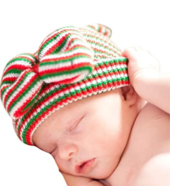 Image Unavailable. Image not available for. Color  Melondipity Girls Christmas  Holiday Noelle Bow Newborn Hospital Beanie Baby Hat 9f53af087275