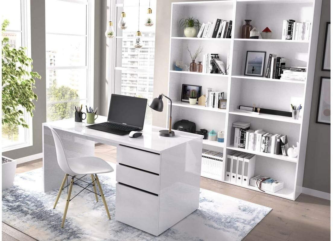 HABITMOBEL Conjunto Despacho Oficina Mesa de Ordenador + 2 ...