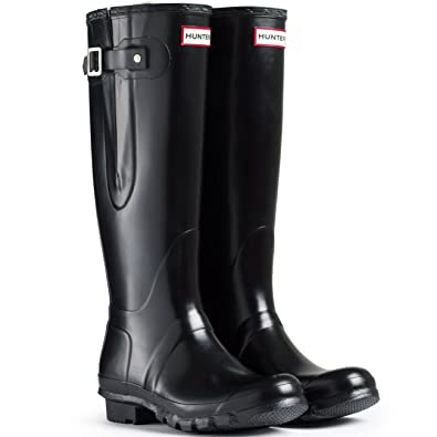 quality design 46853 831a4 Hunter Original Adjustable Damen Fest Gummistiefel Wellington Boots -  Schwarz - 39