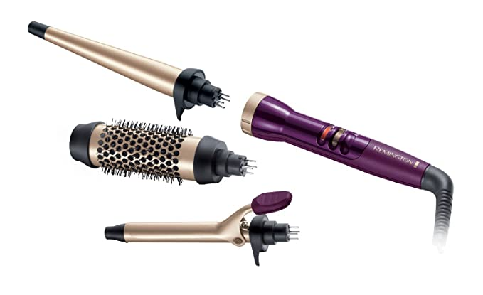 REMINGTON multistyler 5 piezas ci97 m1 rizador de pelo + Remington pelo Cepillos + L Oreal elnett de Luxe - Calor Styling - Spray calor adicional y guante ...